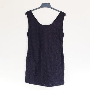 NWT Tulle Black Eyelet Shift Dress w/ Pockets!
